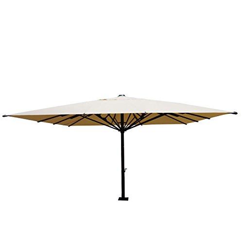 Mendler Gastronomie-Luxus-Sonnenschirm HWC-D20, XXL-Schirm Marktschirm, 5x5m (Ø7,2m) Polyester/Alu...