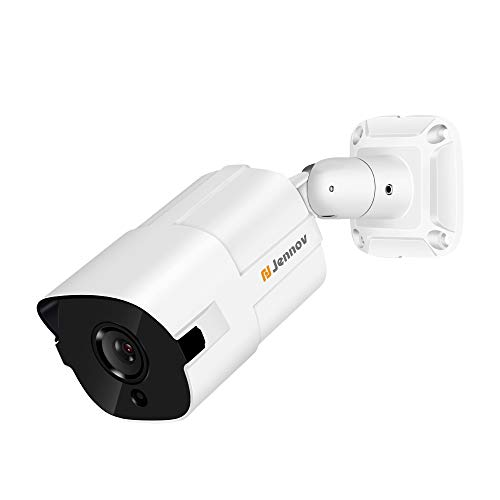 Jennov PoE CCTV Security IP Camera Super HD 5MP Support H 264++ 3mm Lens  Outdoor Indoor IR Night Vision Motion Detection Remote Access Home Video