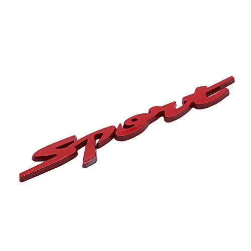 Winwinfly Wasserdichte Auto Aufkleber 3D Sport Emblem Abzeichen Auto Schwanz Zubehör Decals (Rot)