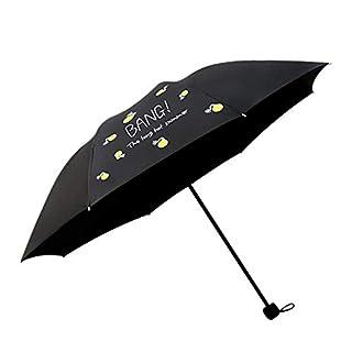 Broadroot Creative Windproof Tri-Fold Umbrella Fashion Simple Sun Umbrella (Black)