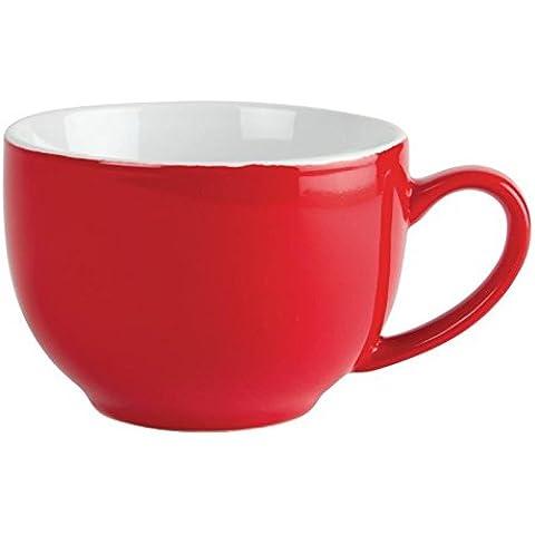 Olympia gk076Caffè Tazza per cappuccino, 340ml, 12oz, colore: rosso (Confezione da 12)