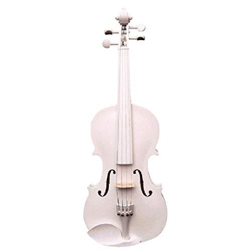 Violini Strumenti a Corda Pino Bianco Acero Europeo a Mano Strumento a Corde Principianti Accessori Completi (Color : 4/4)