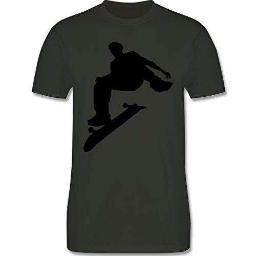 Sonstige Sportarten - Skater - Herren Premium T-Shirt Army Grün
