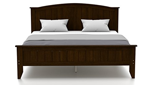 Urban Ladder Wichita Queen Size Bed (Dark Walnut)