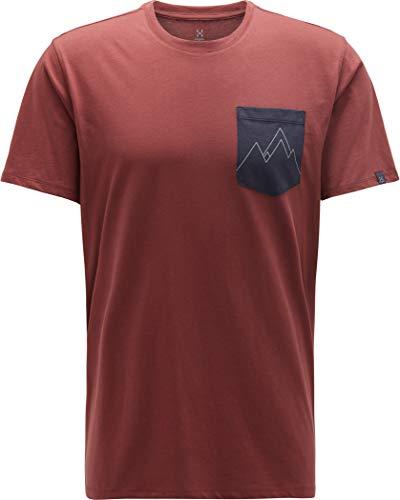 Haglöfs Mirth Tee Herren Maroon red/Slate Größe L 2019 Kurzarmshirt -