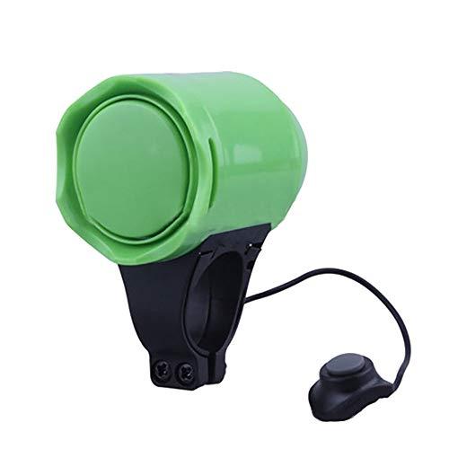FiedFikt Universal sehr Laute Fahrrad-Sicherheitshupe Fahrrad MTB Lenker Ring Klingel Hupe Sirene Alarm Diebstahlsicherung grün