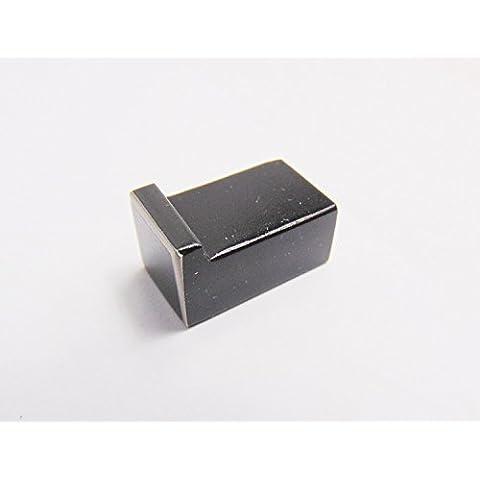 gedotec® Diseño pomo para muebles armario Pomo de puerta Lore Used Look   Acero Inoxidable Antiguo forjado hierro negro cepillado   Marca de