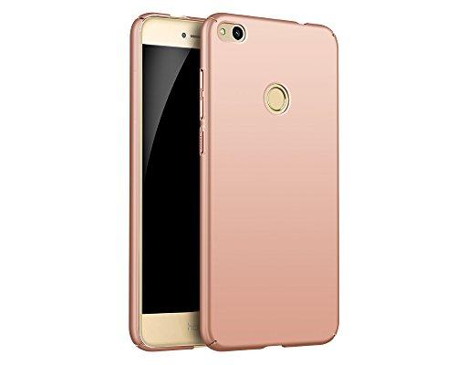 EIISSION Huawei P8 Lite (2017) Hülle, Hardcase Ultra Dünn Huawei P8 Lite (2017) Schutzhülle aus Hart-PC Case Cover Handyhülle für Huawei P8 Lite (2017) (Rose Gold)