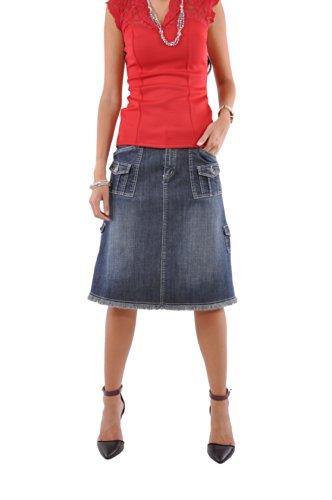 Style J Damen Rock Fabelhaft und Taschen Denim blau 18(UK) 46(EU) 34(Taille)