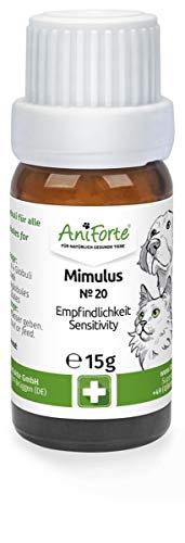 AniForte Mimulus Globuli für Hunde, Katzen, Haustiere - Bachblüten zur Beruhigung bei unangebrachter Angst, Empfindliche Tiere (Empfindlichkeit)