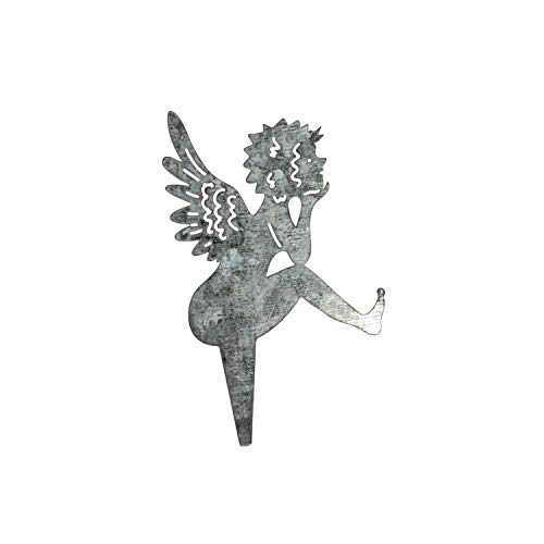 12x Silberne Metall Engel Stecker Sticker Adventskranz Weihnachtsdeko Weihnachten Basteln