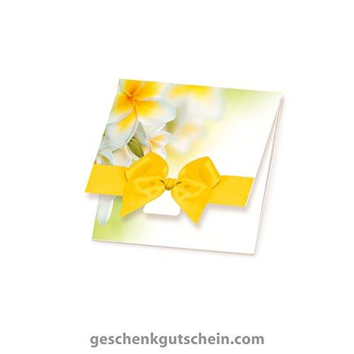 10 Stk. Quadratische Caro-Gutscheine für Kosmetik, Wellness, Massage, Spa KS102