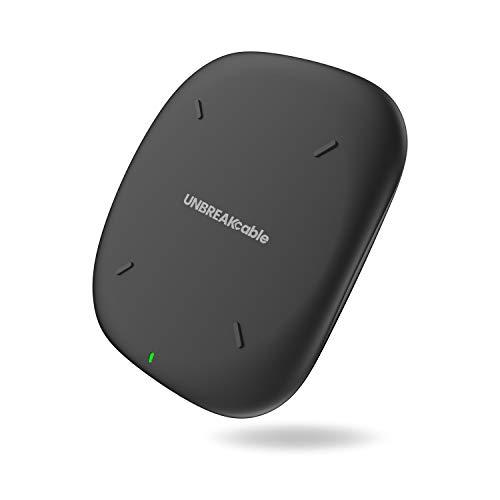 UNBREAKcable Wireless Charger, Qi-zertifizierte Induktions-Ladegerät, 10W kabelloses Ladegerät, kompatibel mit iPhone XS Max/XR/XS/XS/X, Galaxy S10/S9/S9+/S8 usw. - Schwarz