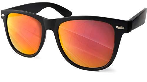 UVprotect Sonnenbrille retro Design Herren und Damen W100-Rot