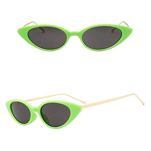 SKCLBOOS Sonnenbrillen Neue kleine cat Eye Sonnenbrille Frauen markendesigner Half Metal schwarz rot Leopard grün oval Sonnenbrille für Frauen oculos