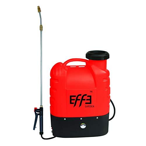 EFFE Pompa a Spalla Irroratrice a Batteria LT.16 Batteria a Piombo 12V 10AH | Pompa spruzzatrice a Piombo irrigazione Giardino
