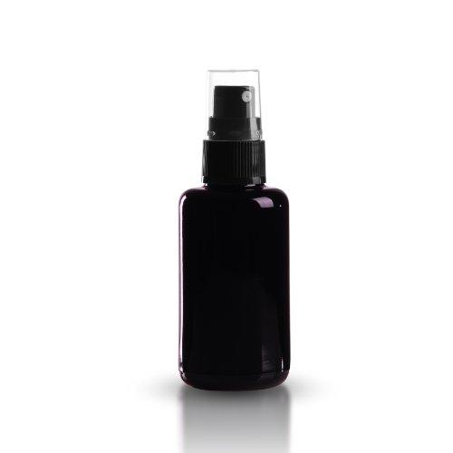 5 x Miron Violettglas 30ml / Violettglasflasche inkl. Pumpzerstäuber schwarz / Sprühkopf DIN 18 mit transparenter Schutzkappe