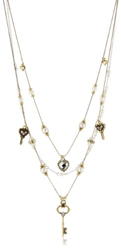Uhren Johnson (Betsey Johnson 'Iconic' Heart and Key Illusion Necklace)