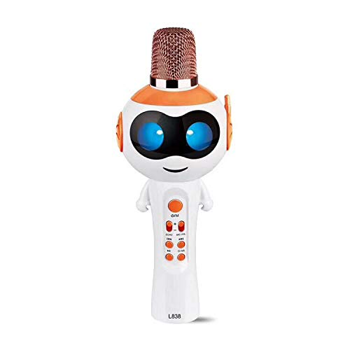 CPDZ Mikrofon drahtlose Kinder-Karaoke-Mikrofon Boys & Girls Weihnachten oder Geburtstag Geschenke tragbare Karaoke-Maschine für Kinder Pop,Orange