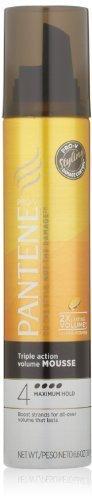 Pantene Pro-V Triple Action Volume Maximum Hold Hair Mousse 6.6 Oz (Pack of 3) by Pantene (English Manual)