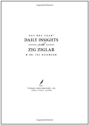 The One Year Daily Insights With Zig Ziglar One Year Signature Line