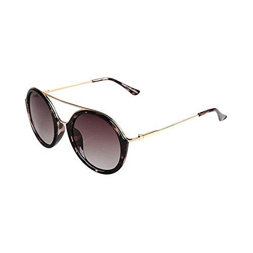 Sonnenbrillen Brillen Metall Prince Edward Spiegel Influx Personen Sonnenbrille Polarizer Männer und Frauen-runde Retro- Farbe Film-Sonnenbrille Schütze Deine Augen (Farbe : C)