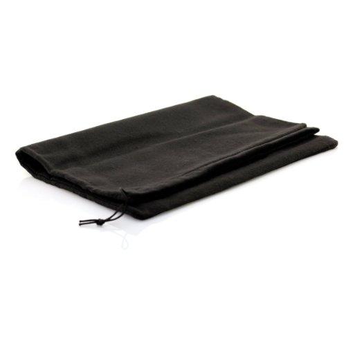 TelMo® Schuhbeutel aus Baumwolle mit Zugband 37x27cm SCHWARZ (Schwarz Zugschnur Baumwolle)