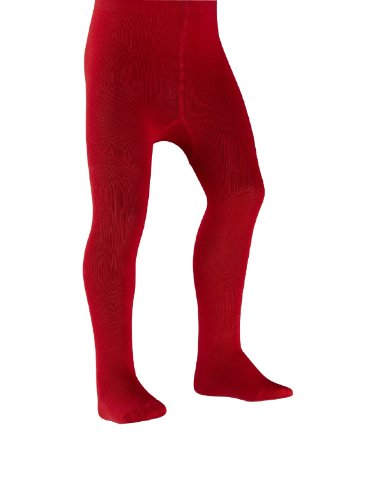 -24 Monate) Strumpfhose, Einfarbig Rot Fire ()