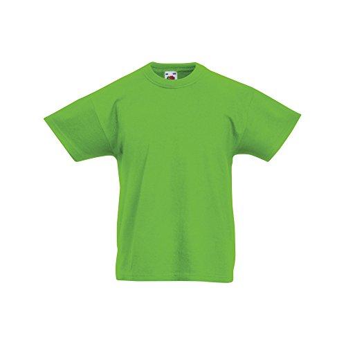 Fruit of the Loom Kinder Original Kurzarm T-Shirt (5-6 Jahre) (Limette)