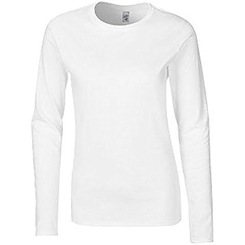 Gildan- Camiseta básica de manga larga suave para chica