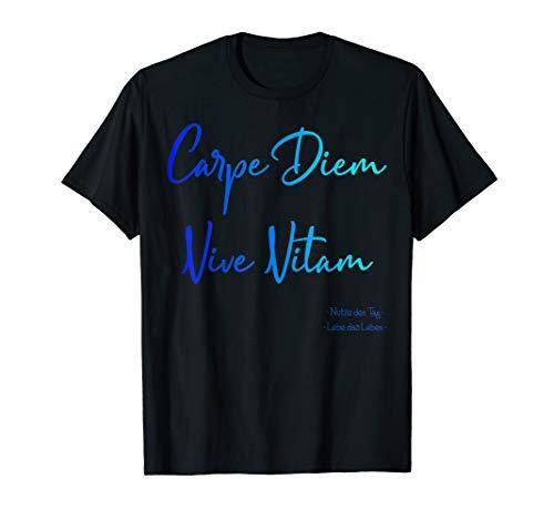 Carpe Diem Vive Vitam Nutze den Tag. Lebe das Leben. T-Shirt - Wand Schablone Wörter