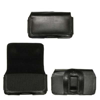 Executive schwarz horizontale Ledertasche mit Gürtelclip und Gürtelschlaufen für Samsung Solstice A887/Stunt R100/R410/T119/T659/Blast T729/Highlight T749/Sway U650/Glyde U940 -