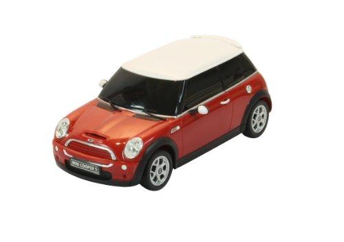 Jamara - Mini Cooper S Rouge - Echelle 1:24 - Maquette Voiture Télécommandée