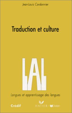 Traduction et Culture par Jean-Louis Cordonnier