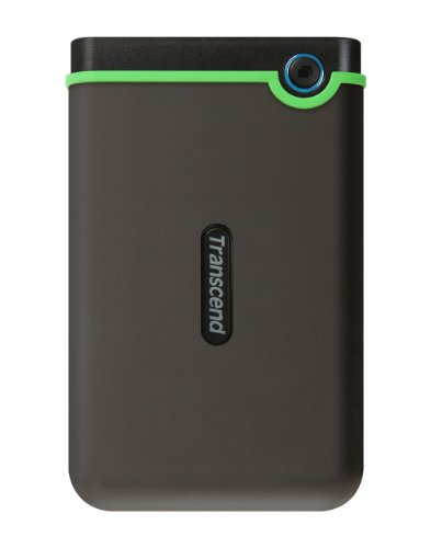 Transcend StoreJet M3 Anti-Shock 1TB externe Anti-Shock Festplatte (6,4cm (2,5 Zoll), 5400 rpm, 8MB Cache, USB 3.0) grau-grün