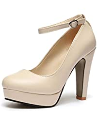 Las Mujeres Bombas de Primavera de Verano Zapatos Zapatos de tacón Alto Impermeable de Espesor con