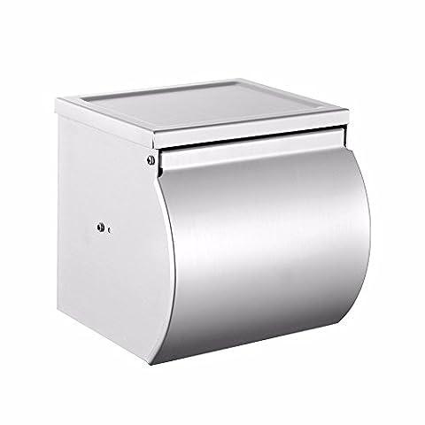 Pingofm Propriété l'espace avec une Fonctionnalité Bureau Paper Box de salle de bain wc bac à papier Serviette en Papier de papier toilette Rouleau de papier toilette Feeder Holders, 13.5*13*12.8cm