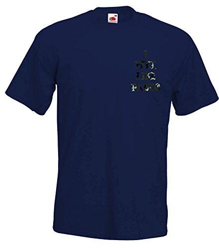 TRVPPY Herren T-Shirt THIS IS A GOD DREAM / Camouflage Aufdruck / in vielen versch. Farben / mit Rücken -und Brustaufdruck / Gr. S-5XL Camo-Navyblau