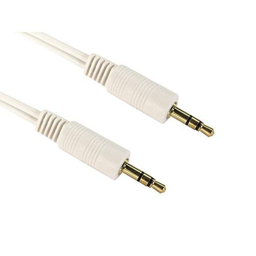 Bluecharge Direct Aux-Kabel, 3,5 mm-Klinke auf Klinke, Stereo-Audiokabel, PC, Auto, vergoldete Kontakte 0.20m Schwarz  3,5-mm-pc