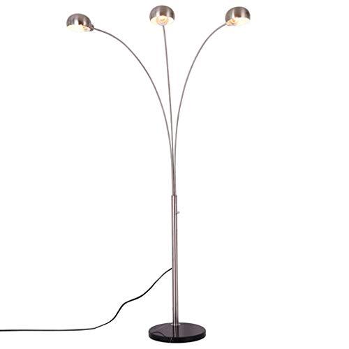 *Stehlampe Stehlampe, Metall-Stehlampe, drei Angelscheinwerfer, Esstisch, Wohnzimmer, Schlafzimmer, Arbeitszimmer, Büro, Freizeit, Mahjong-Stehlampe Stehlampe gewölbt