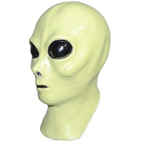 Alien Latex Maske. Extraterrestrial Roswell glühen im Dunkeln. Vervollkommnen Sie für Halloween-Partys, Film-Kostüme oder Abendkleid-Ereignisse. Toller Abschluss für Kostüme und erschreckende Freunde