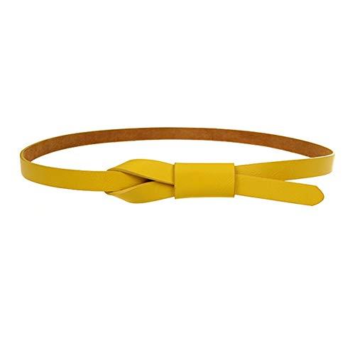 Cinturón de fiesta amarillo para mujer