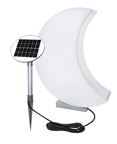 8 seasons design - Designer Solarleuchte Mond Shining Moon (60 cm groß, LED Gartendeko, warmweiß,...
