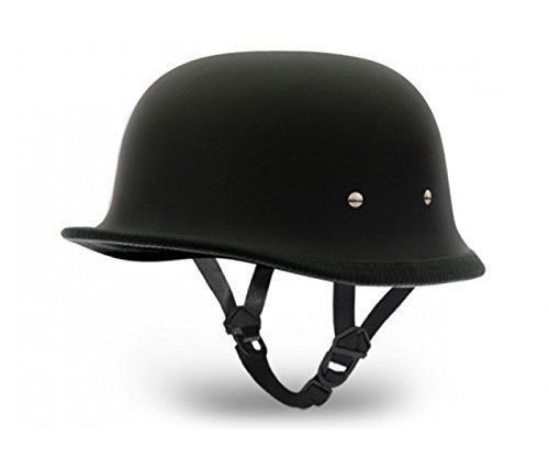 Delhitraderss German Style Motorbike Helmet-(Dull Black) For-Hero CBZ Type 1