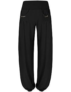 BAISHENGGT Pantaloni Baggy allentati con tasche laterali Harem Pants - Donna