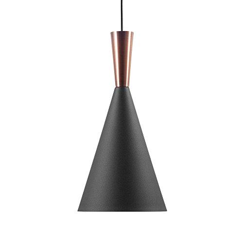 Beliani Lampe Suspension Noire et cuivrée Tagus