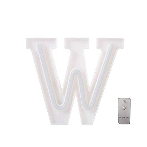 Sulifor 26 alphanumerische Leuchten LED-Leuchten Party-Deko-Leuchten Weihnachts-Deko-Leuchten USB-Briefleuchten weiße Kunststoffbuchstaben stehend hängend A-Z &