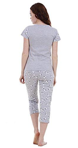 Ensemble pyjama d'été Snoopy femme, short et haut à manches courtes Mickey et Minnie femme Love-Ensemble Pantacourt