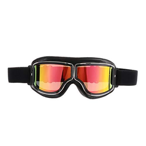 Almencla Motorradbrille Schutzbrille Überbrille Sonnenbrille mit klaren und Gelben Linsen Winddicht für Motorrad, Radfahren, Winddicht und Sanddicht