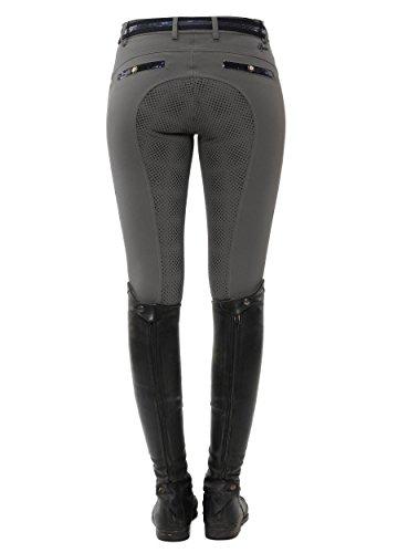SPOOKS Reithose für Damen Mädchen Kinder, Voll-Grip-Besatz Reithosen Leggings Turnierreithose - Ricarda Full Grip Sequin - Stone XXS
